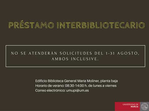 Desde la Sección de Préstamo Interbibliotecario se recuerda a nuestros usuarios: