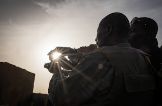Ansongo Mali, the Barkhane French operation war against terrorism photo shows the daily life of French soldiers in the 2013 launch against terrorism