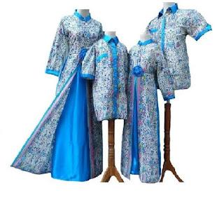 model baju batik couple keluarga untuk pesta