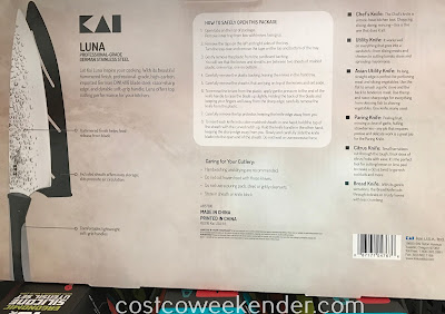 Costco 1080815 - A kitchen isn't complete without a professional-grade knife set like the Kai Luna 6-piece knife set