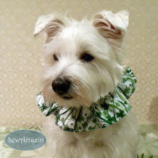 Shamrock Celebrations Dog Scrunchie Ruffle