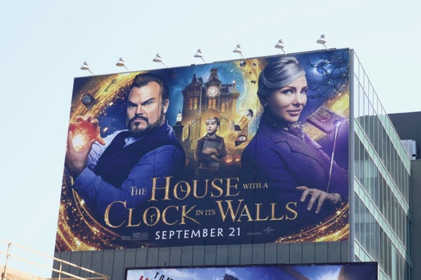 Giant House with Clock in Walls billboard