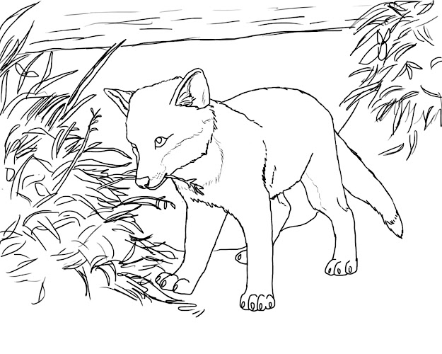 Printable Fox Coloring Pages
