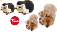 Logo Trova il tuo animale del Bosco: vinci gratis coppie di peluche Trudi