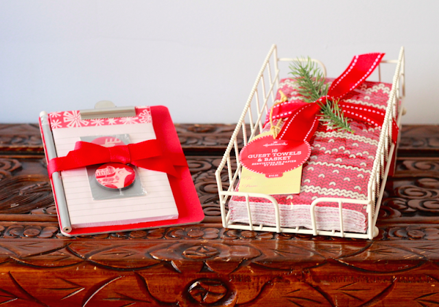Hallmark Canada Nordic Clipboard Guest Towels and Basket #LoveHallmarkCA