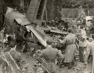 The wreckage of the plane in which Mazzola and  his Grande Torino teammates perished
