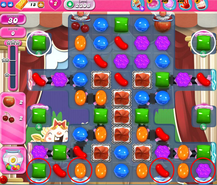 Candy Crush Saga level 2308