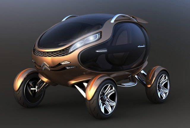The Egg Shaped Car Concept From Citroen Eggo Technology
