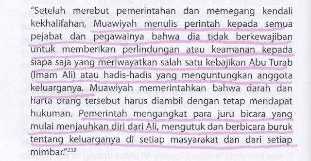 Syiah Menuduh Muawiyah Gemar Mengutuk dan Berbicara Buruk tentang Ali RA dan Ahlul Bait