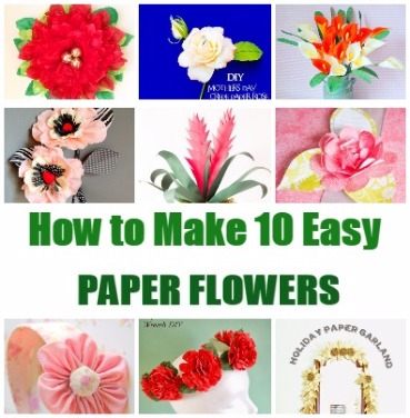 Paper Flower Tutorials Handmade Paper Flowers By Maria Noble
