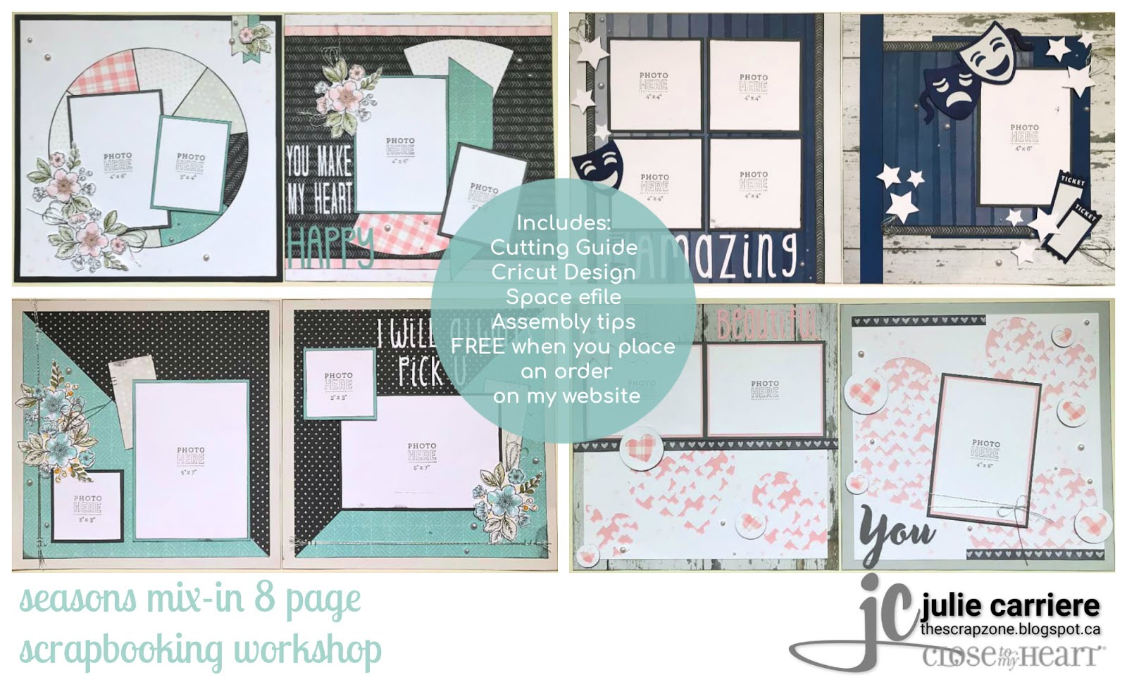 seasons mix-in scrapbooking assembly guide