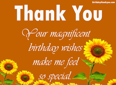 Thank you for the birthday wishes much thanks to you such a great amount for the seas of birthday wishes and messages you sent me on my big day presently i have to return and keep reading m4hsunfo