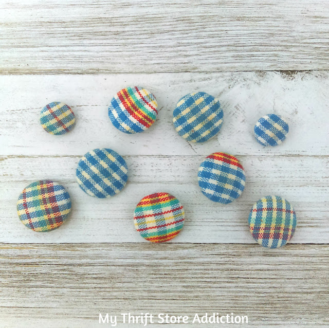 Flannel covered buttons