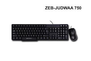 Zebronics Zeb-JUDWAA 750 Wired Keyboard and Mouse Combo