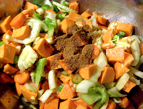 Spice Added to Raw Veggies