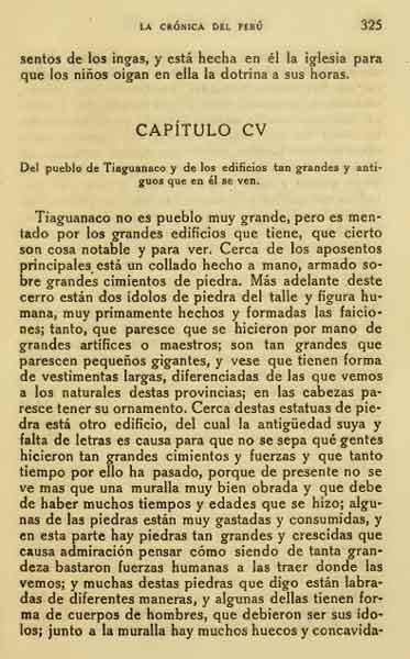Pedro cieza de leon cronica del peru