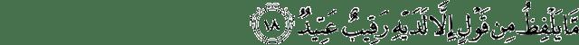 Surat Qaaf ayat 18