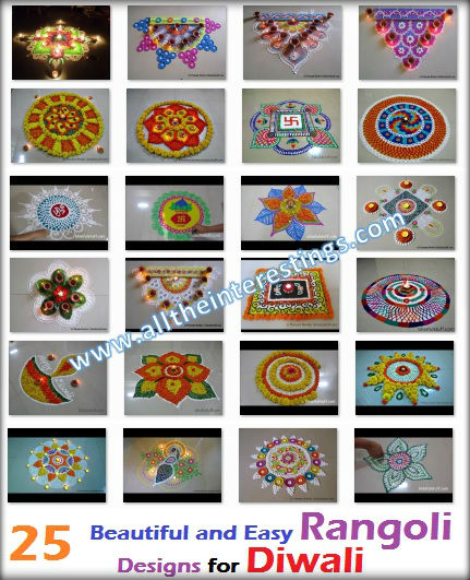 Beautiful and innovative multicolored rangoli Diwali Special Rangoli Designs