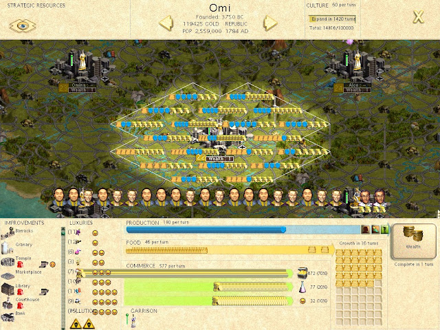 Civilization 3 - City Output Description