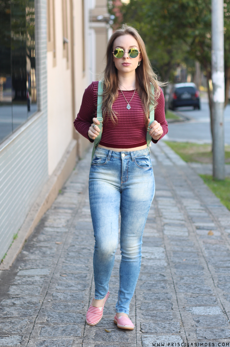 look do dia com calça jeans