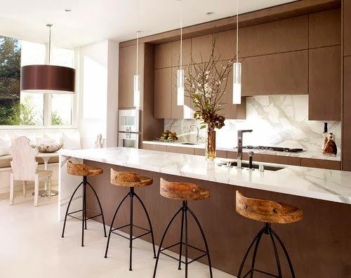 cocina moderna marrón