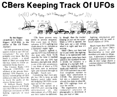 CBers Keeping Track of UFOs - The Desert Sun 4-29-1977