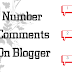 How to number comments in Blogger/BlogSpot