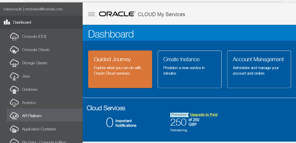 Onkar's Oracle Cloud and Fusion Middleware Blog: IaaS - Oracle Cloud