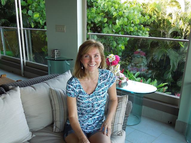 Susan on the lanai