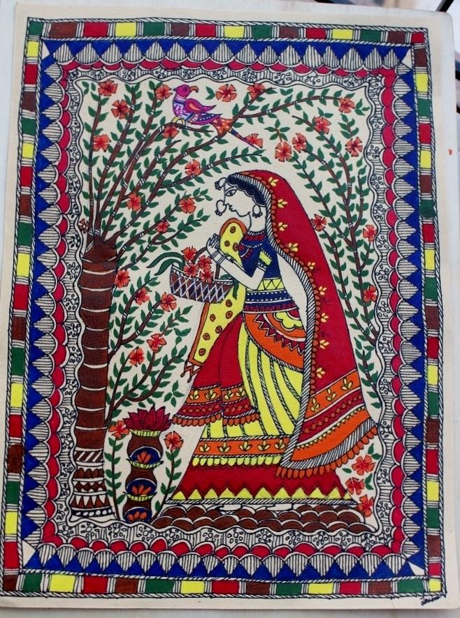 Life S Little Treasures Madhubani Painting