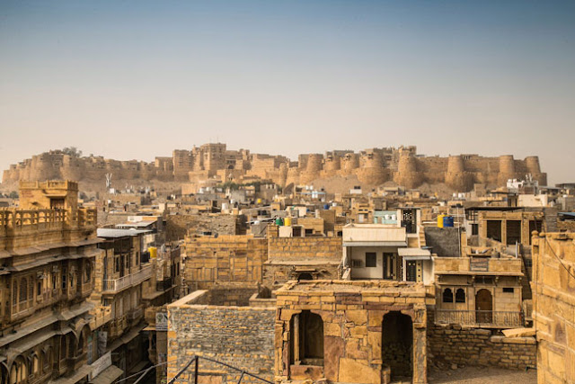 jaisalmer fort golden light sunset photo