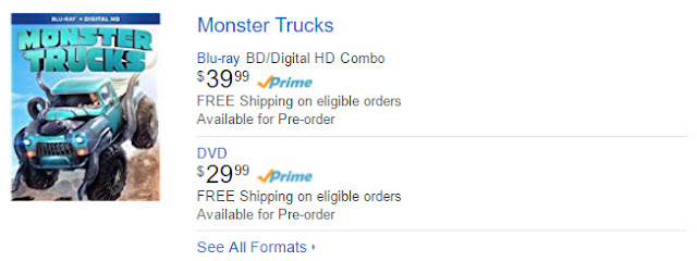 Monster Trucks 2017 DVD and Blu ray Release Date