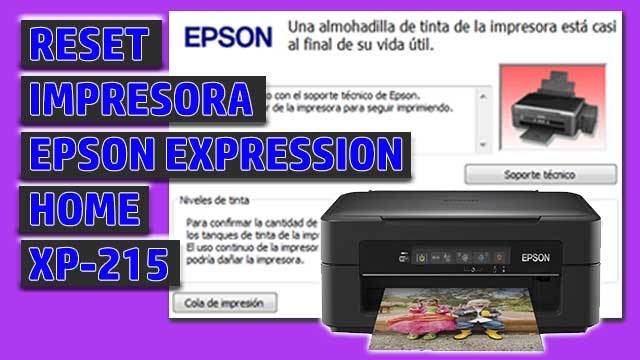 Reset impresora EPSON Expression Home XP-215