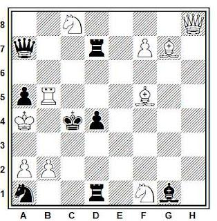 Problema ejercicio de ajedrez número 797: Mate en 3 de J. A. Coello y E. Petite (1986)