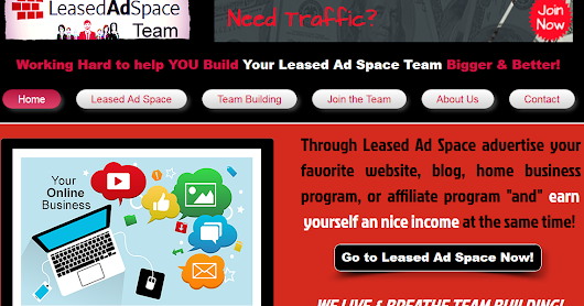 Leased Ad Space - Advertising and earnings in one great program!