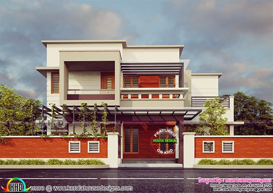 1804 square feet 3 bedroom flat roof modern home