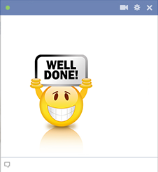 Well done emoticon for Facebook