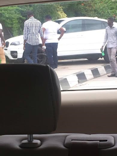 1 Photos: Mr Ibu involved in an automobile accident