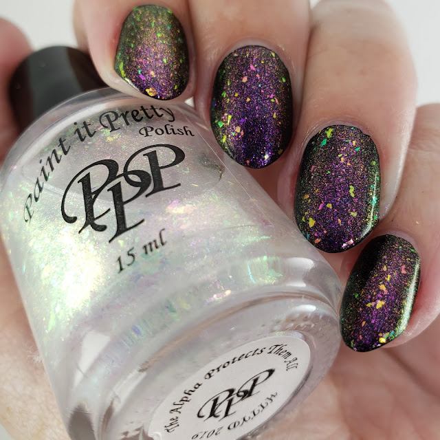 paint it pretty polish, how to train your dragon, indie polish, indie nail polish, nail polish, flakie toppers