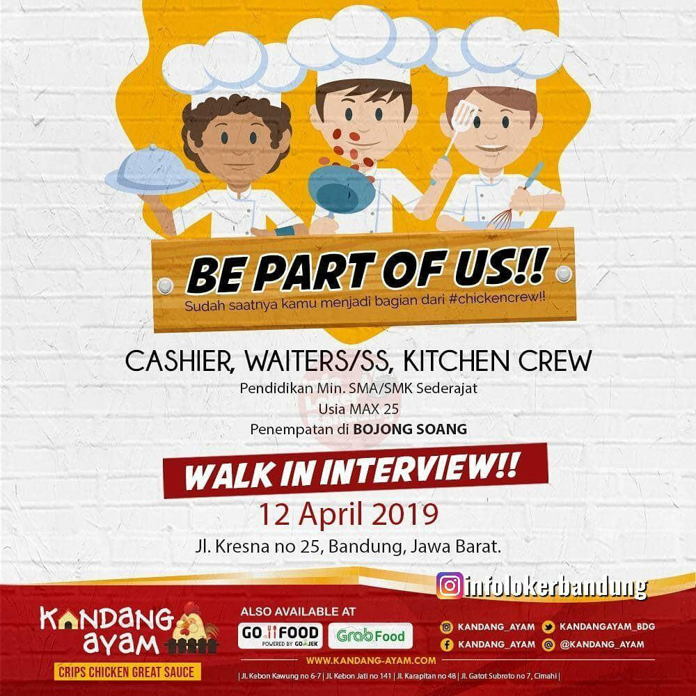 Walk In Interview 12 April 2019 Kandang Ayam Penempatan Bojongsoang Bandung