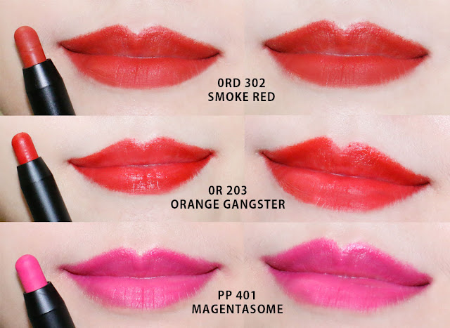 vov all day strong lip color Swatches