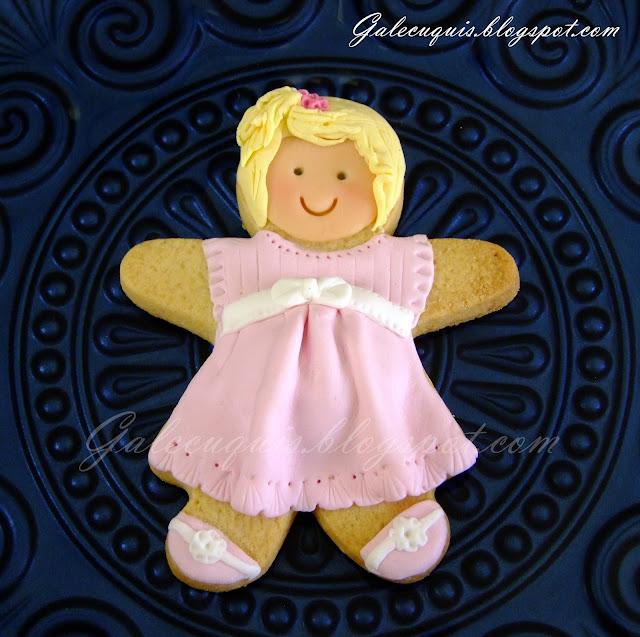 galleta fondant muñeca embarazada