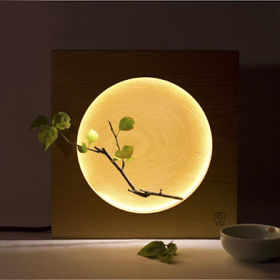 Wood Moon Desk Lamp