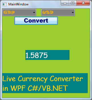 Consuming The Live Currency Conversion Web Service In Wpf
