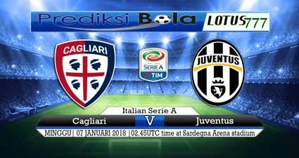 prediksi skor Cagliari vs Juventus 07 januari 2018
