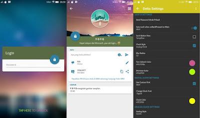 Aplikasi BBM Mod Android Delta v 2.13.1.14 Release Terbaru Changelog v3.5.3