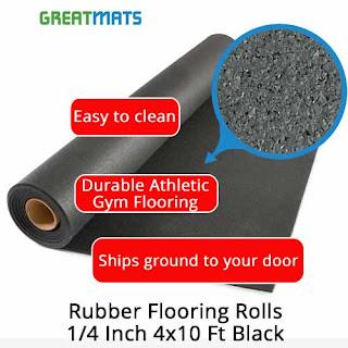 Greatmats rubber flooring rolls 4x10 foot