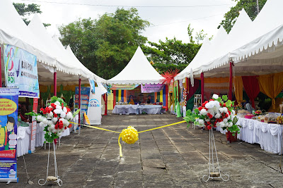 Lokasi Bazaar sebelum pembukaan Festival Pulau Penyengat 2019