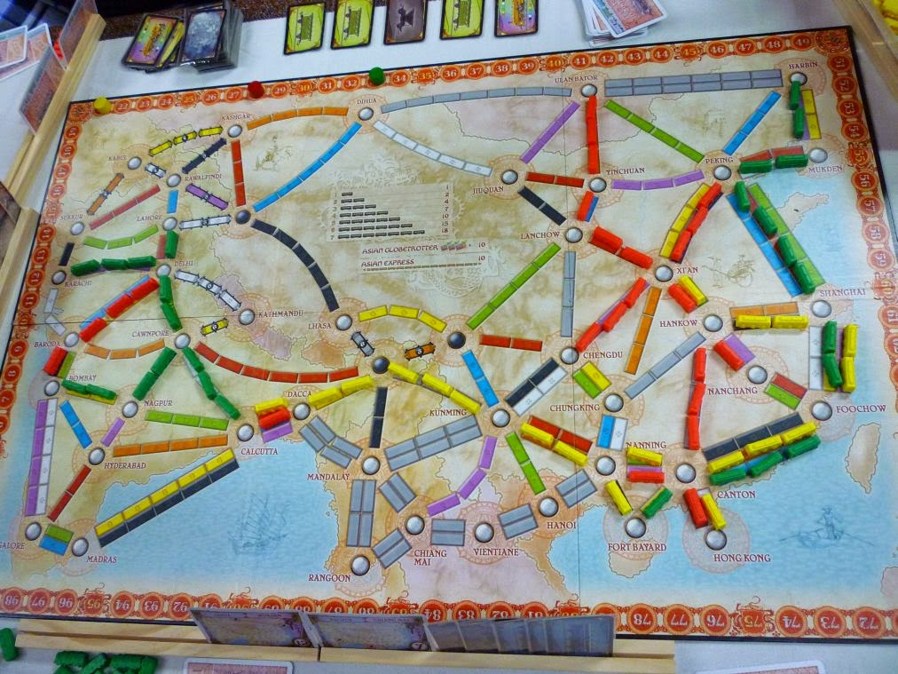 Ticket To Ride Asia Map.Hiew S Boardgame Blog 6p Ticket To Ride Team Asia