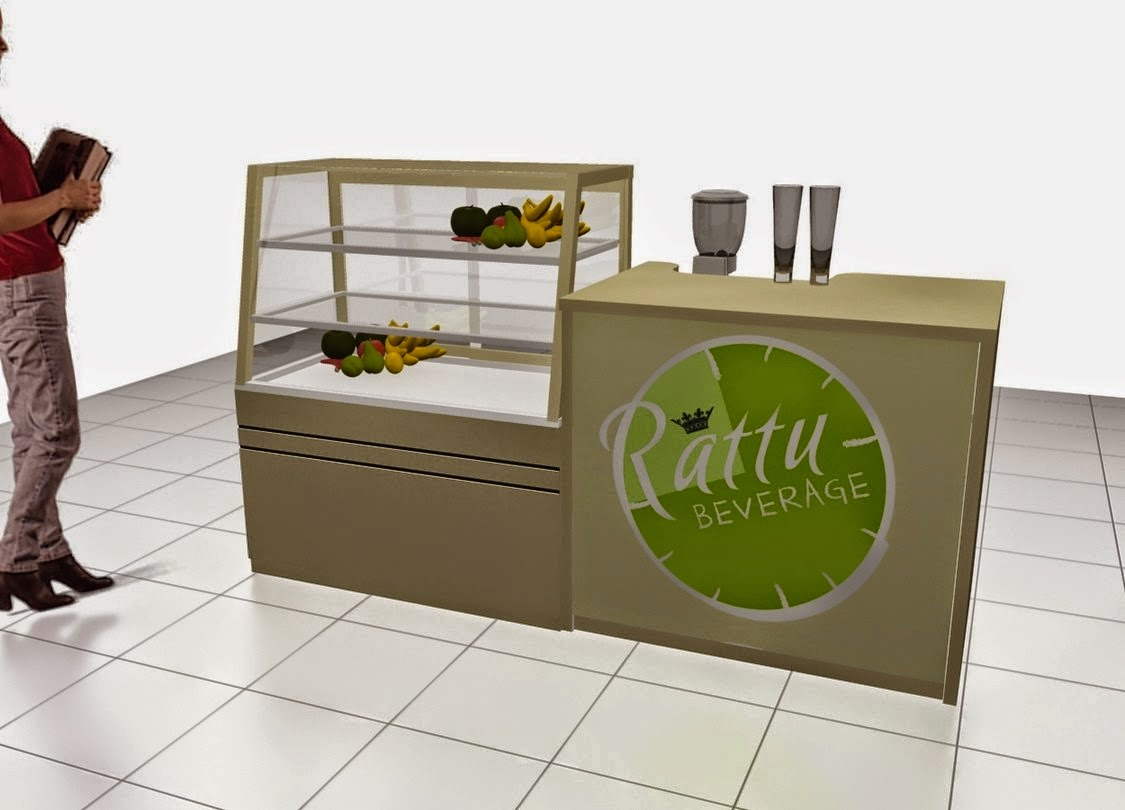 desain 3d etalase makanan minuman semarang depan